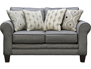 Capri Loveseat, Charcoal, large