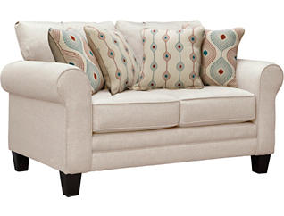 Capri Loveseat, Straw, large