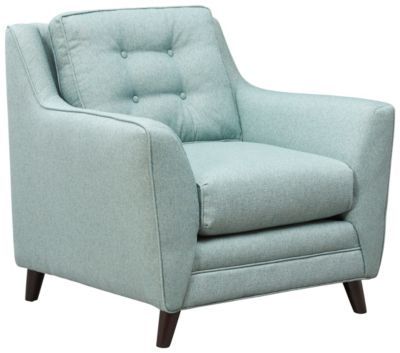 Emery Accent Chair, Cloud, Teal, swatch
