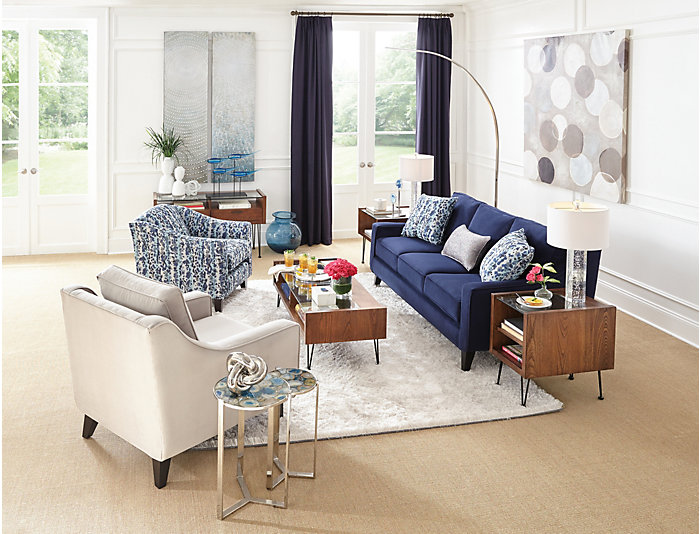 Pierce Sofa, Deep Blue, Deep Blue, large