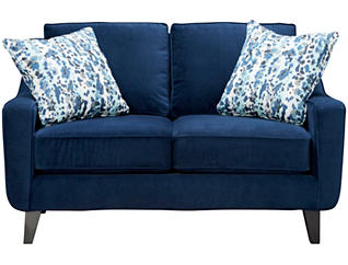 Pierce Loveseat, Deep Blue, large