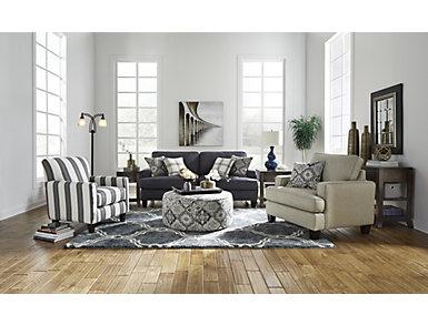 Brighton II Navy Sleeper Sofa, Navy, large