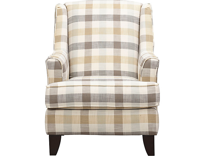 Palmer Wing Accent Chair, Grey, , large