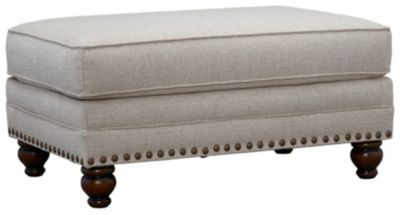 Anna Cocktail Ottoman, Ivory, swatch