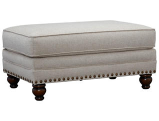 Anna Cocktail Ottoman, Ivory, large
