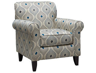 Capri Accent Chair, Blue, large