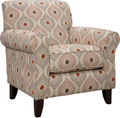 Capri Accent Chair, Brown, swatch