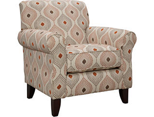Capri Accent Chair, Brown, large