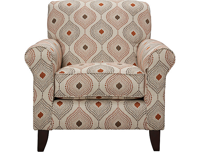Capri Accent Chair, Brown, Brown, large