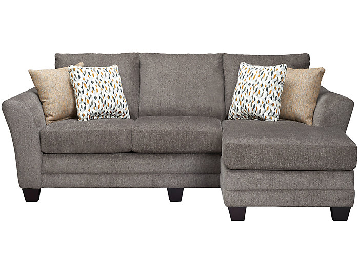 ... Jordan II Chaise Sofa, Charcoal, , Large ...