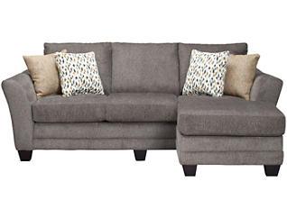 Jordan II Chaise Sofa, Charcoal