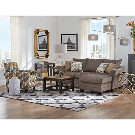 Jordan II Collection Fabric Furniture Sets Living Rooms