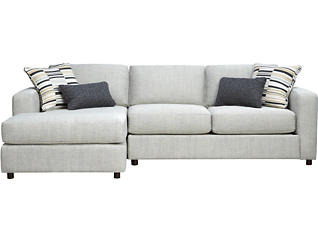 Axis 2 Piece Sectional with Left-Arm Facing Chaise, White, , large