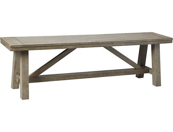 Claremont Grey Dining Bench, , large