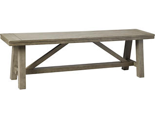 Claremont Dining Bench, Grey, large