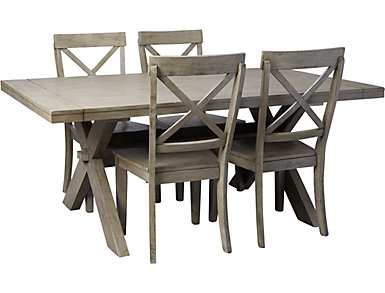 Claremont Grey 5PC Dining Set, , large