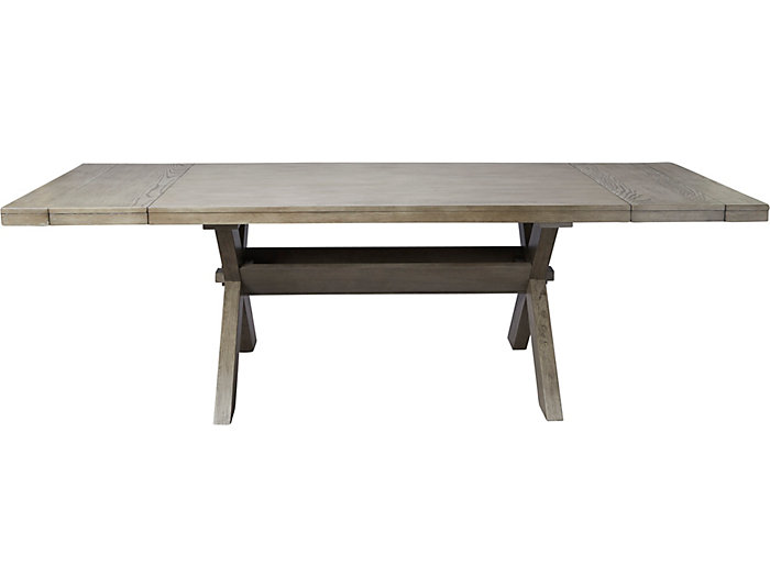 Claremont Grey Trestle Table, , large