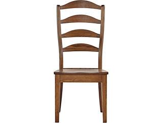 Vintage Farmhouse Ladderback Side Chair, , large