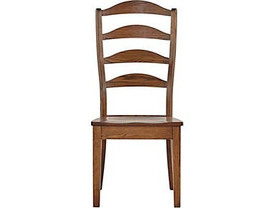 Vintage Farmhouse Ladderback Side Chair, , large