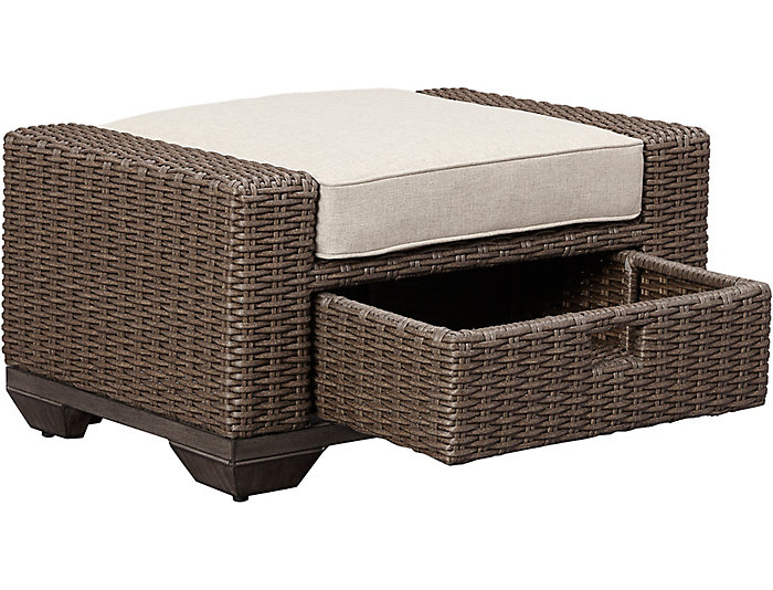 Brookstone Storage Ottoman, , large