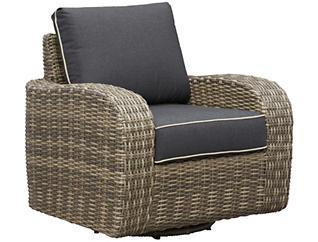 Brunswick Swivel Lounge Chair, Brown, , large