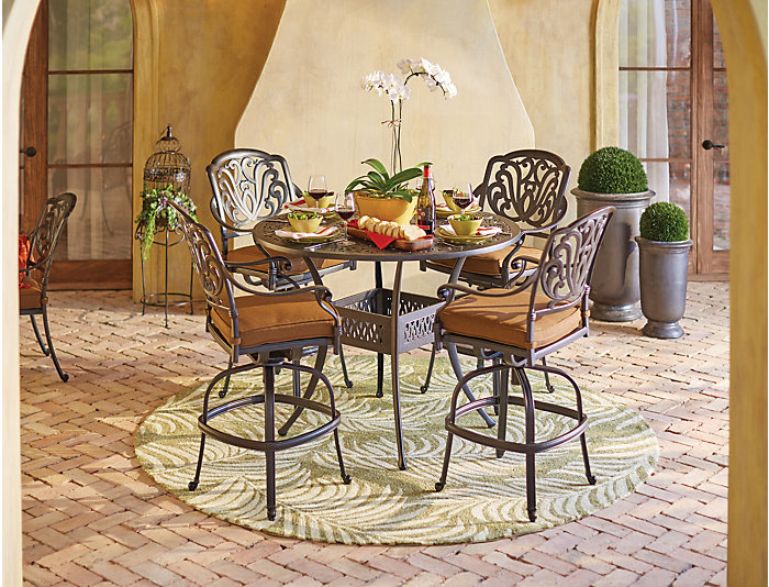 """Catalina 48"""" Round Counter Table, Black, , large"""