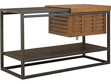 Chelsea Black Bar Console with Cooler, , large