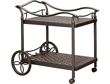 Jamestown II Graphite Serving Cart, , large