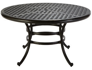 "Jamestown 52"" Round Table, Black, , large"