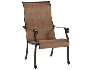 Jamestown Sling Dining Chair, Brown, , large