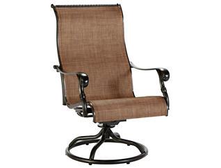 Jamestown Sling Swivel Chair, Brown, , large