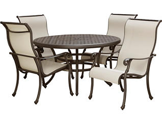Jamestown II 5 Piece Graphite Dining Set, , large