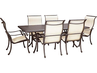 Jamestown 7 Piece Graphite Dining Set, , large