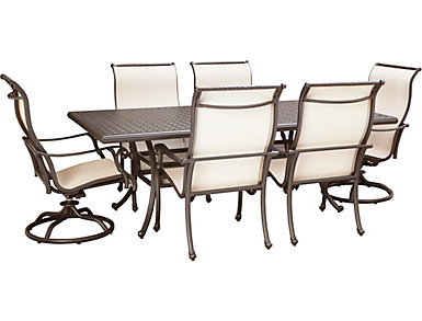 Jamestown II 7 Piece Graphite Dining Set, , large