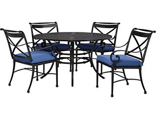 Pellaro Blue Table with 4 Dining Chairs, , large