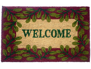 Leaf Welcome 18x30 Doormat, , large