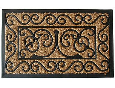 Panama Scroll 18x30 Doormat, , large