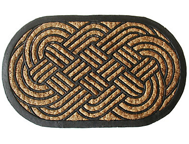 """Oval Knot 1'6"""" x 2'6"""" Doormat, , large"""