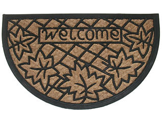 Welcome Leaves 18x30 Doormat, , large