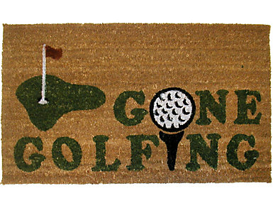 Gone Golfing 18x30 Doormat, , large