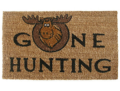 Gone Hunting 18x30 Doormat, , large