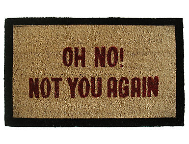 Not You Again 18x30 Doormat, , large