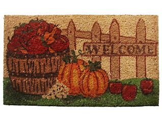 Harvest Welcome 18x30 Doormat, , large