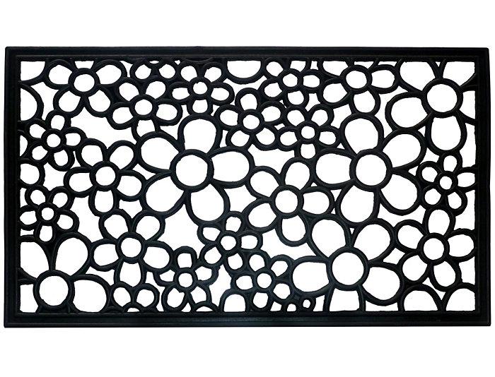Rubber Daisy II 18x30 Doormat, , large