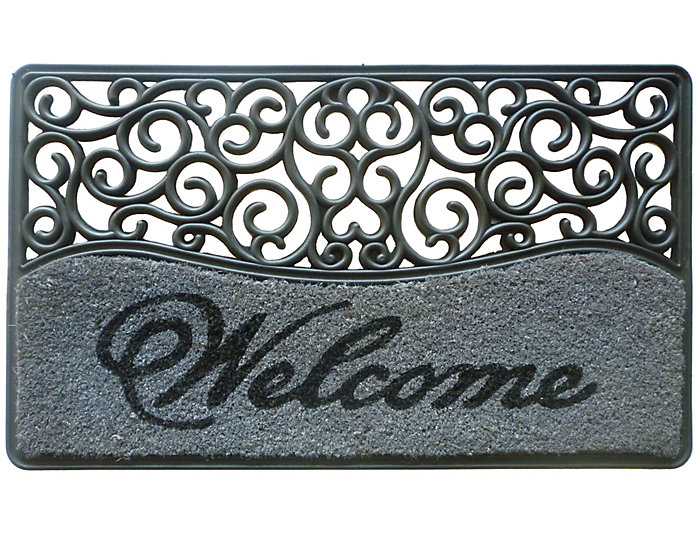 Rubber Welcome 18x30 Doormat, , large