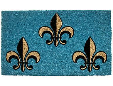 Fleur De Lis II 18x30 Doormat, , large