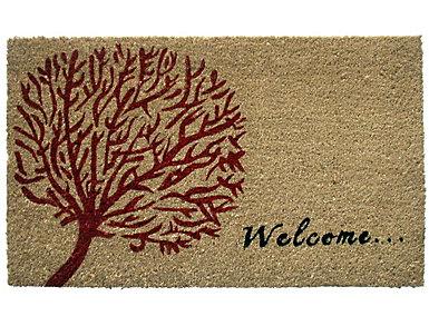 Welcome Tree 18x30 Doormat, , large