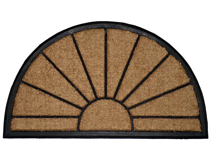 Sunburst Black 18x30 Doormat, , large