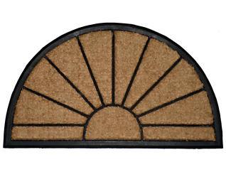 Sunburst Black 24x39 Doormat, , large