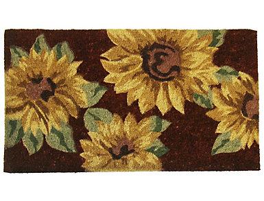 Sunflowers 18x30 Doormat, , large